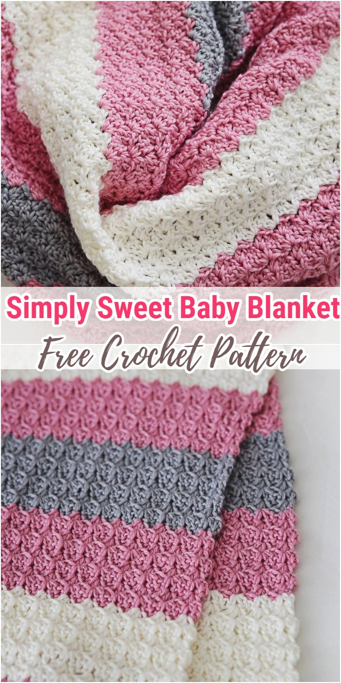 Simply Sweet Crochet Baby Blanket Free Pattern