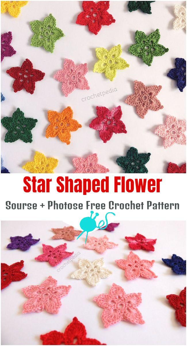 Star Shaped Flower – Free Crochet Pattern