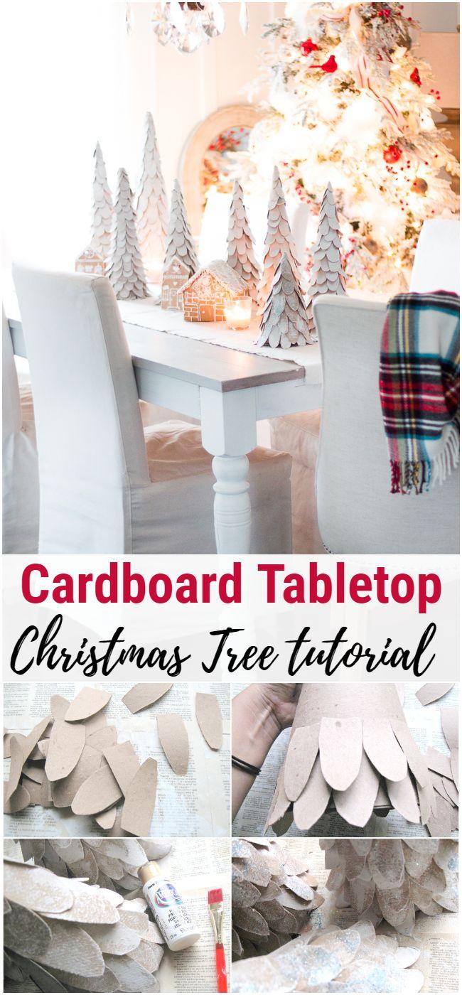 Cardboard Tabletop Christmas Tree