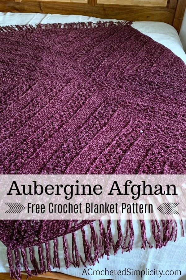 Aubergine Afghan Free Crochet Pattern