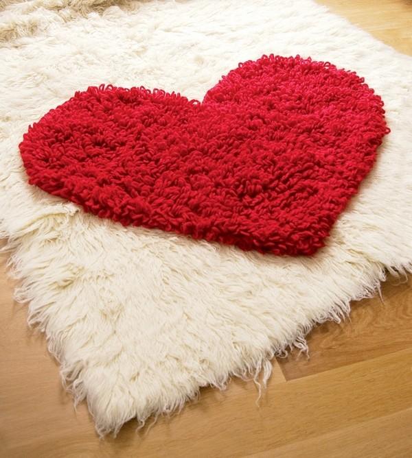 Beautiful Crochet Heart Rug Free Pattern