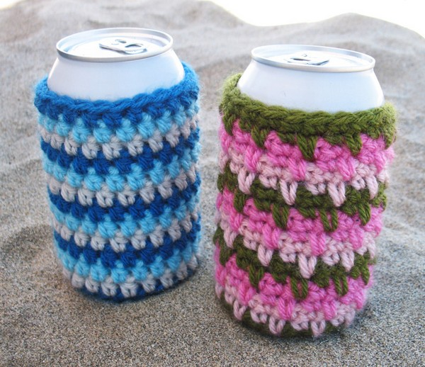Beer Cozies Free Crochet Pattern