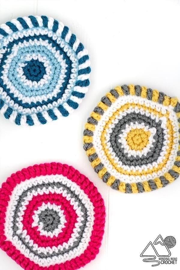 Boho Crochet Coaster Quick Free Pattern