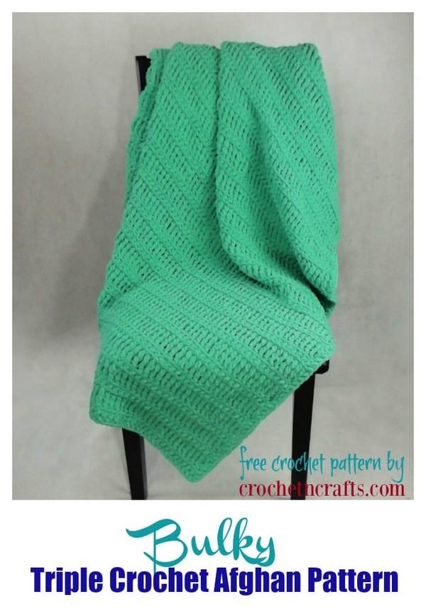 Bulky Triple Crochet Afghan Pattern