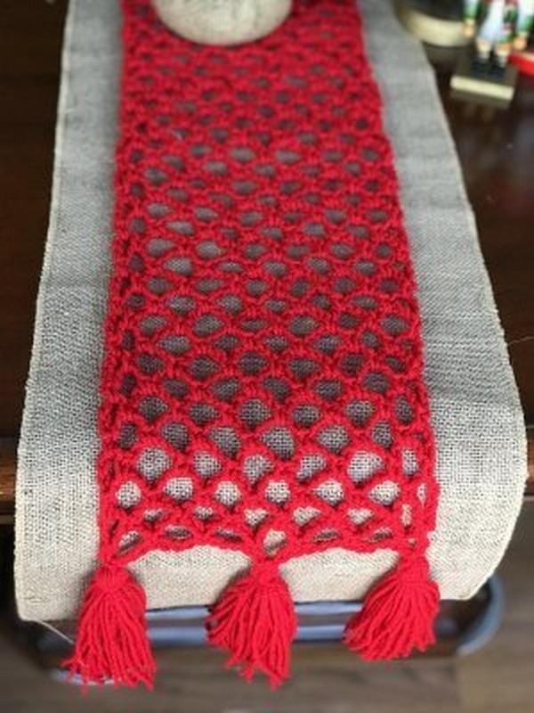 Christmas Crochet Table Runner