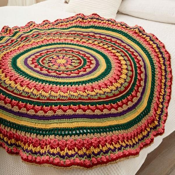 Circular Fall Mandala Throw