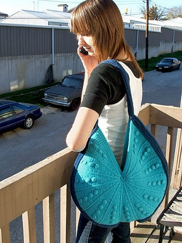 Crescent Bag Free Tunisian Crochet Pattern
