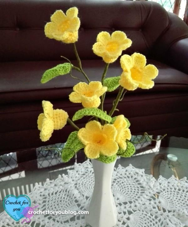 Crochet 3d Flower Bouquet