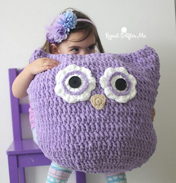 Crochet Oversized Owl Pillow