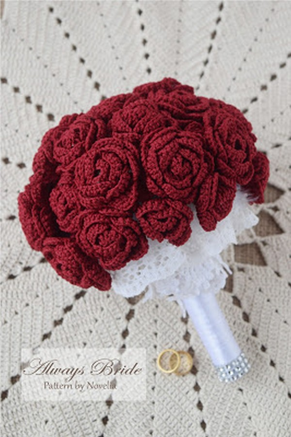 Crochet Pattern Always Bride Flower Bouquet