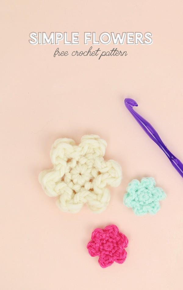 Crochet Small Simple Flower Pattern 1