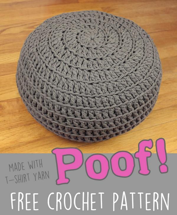 Floor Pillow Pouf Ottoman Free Crochet Pattern