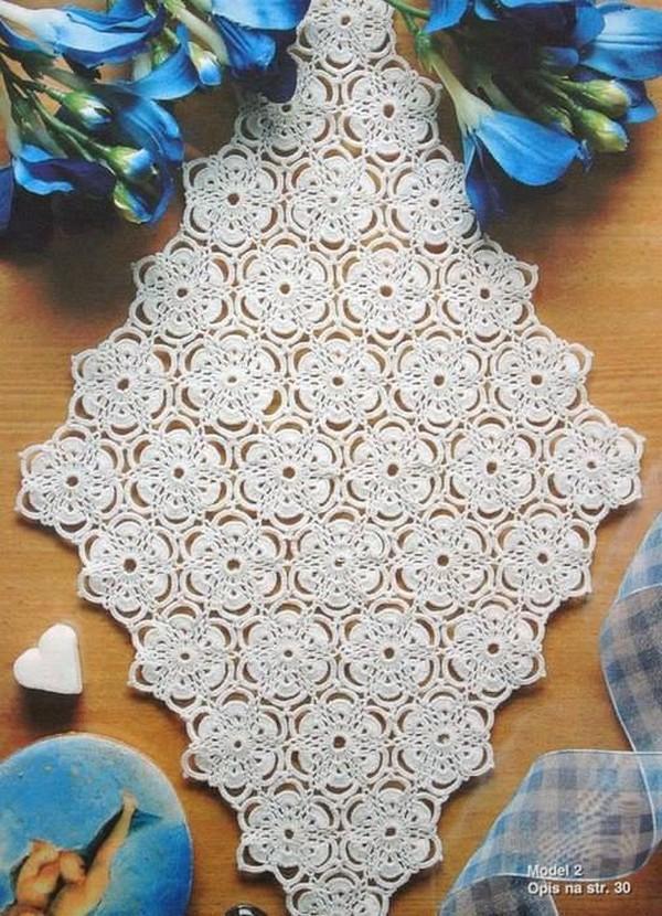 Floral Diamond Table Runner