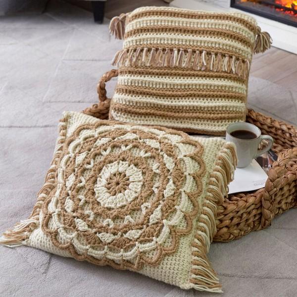 Fringed Mandala Pillow