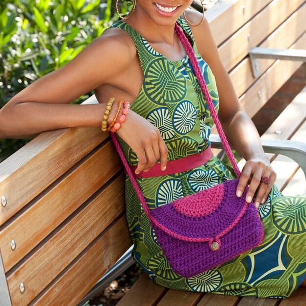 Half Circle Bag Crochet Pattern