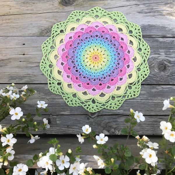 Magic Water Lily Mandala Crochet Pattern