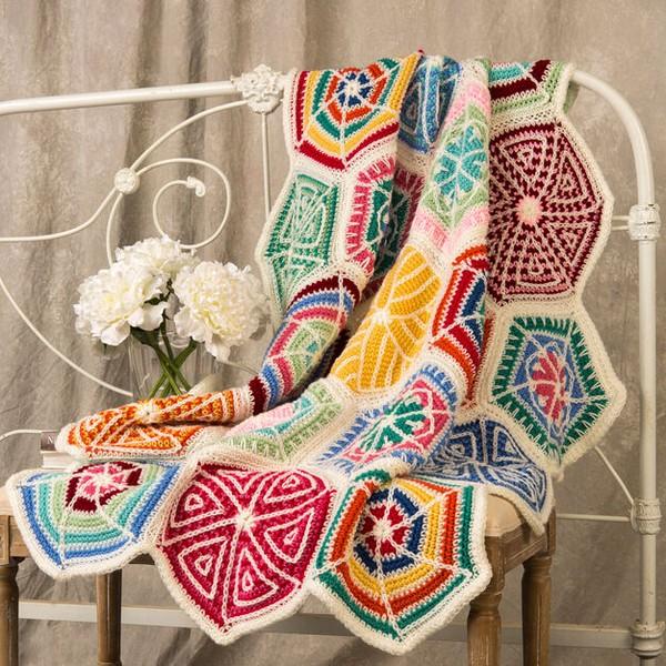 Mandala Sampler Throw Crochet Pattern