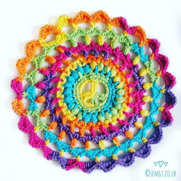 Peace Out Mandala Free Crochet Pattern