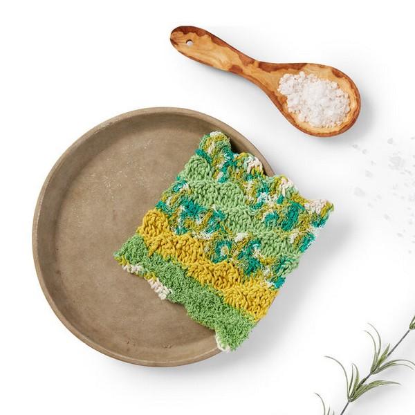 Rippling Wave Crochet Dishcloth