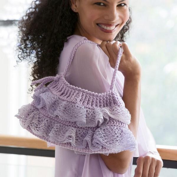 Ruffled Bottom Bag Crochet Pattern