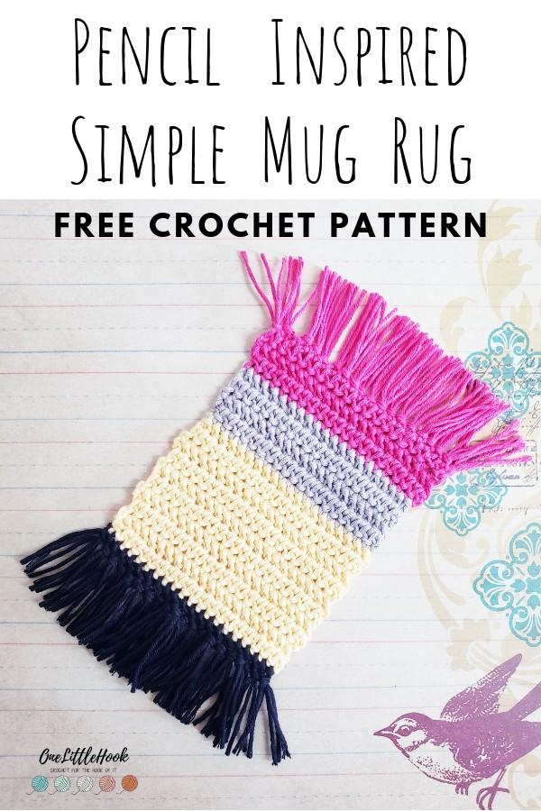 Simple Crochet Mug Rug Free Pattern