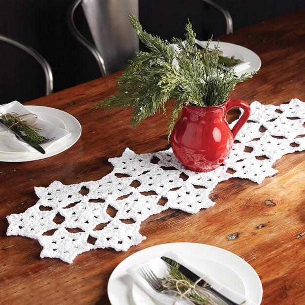 Starflake Crochet Table Runner