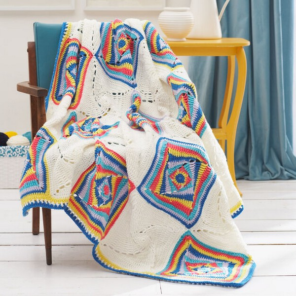 Wonky Square Afghan Crochet Pattern