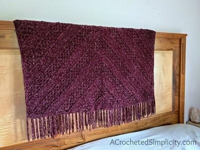 Aubergine Afghan – Free Crochet Blanket Pattern