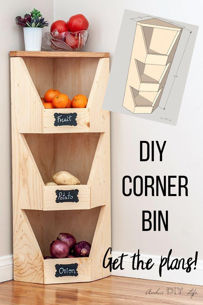 DIY corner vegetable store