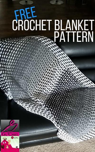 Free Crochet Blanket Pattern (Scraps Of Yarn Blanket