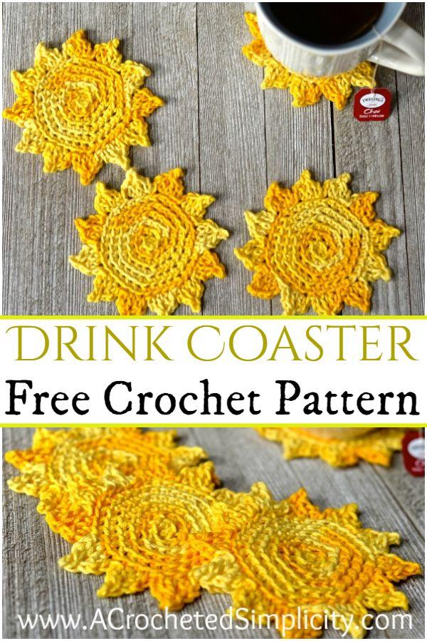 Free Crochet Drink Coaster Pattern