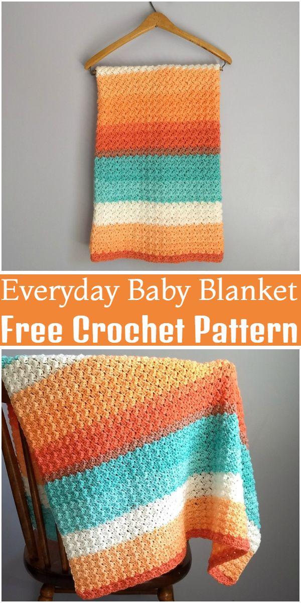 Free Crochet Everyday Baby Blanket Pattern