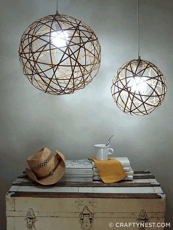 DIY Bamboo Orb Pendant Lights