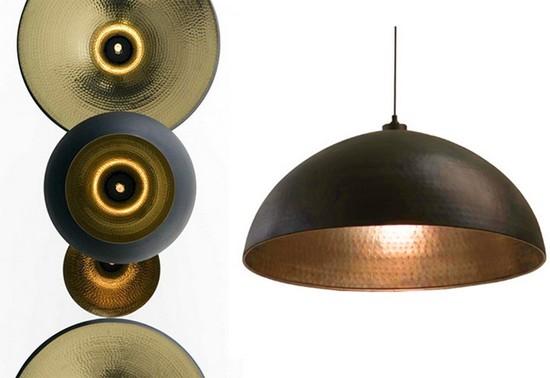DIY Black & Gold Pendant Lamp