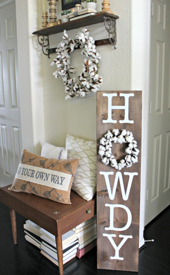 DIY Howdy Porch Sign