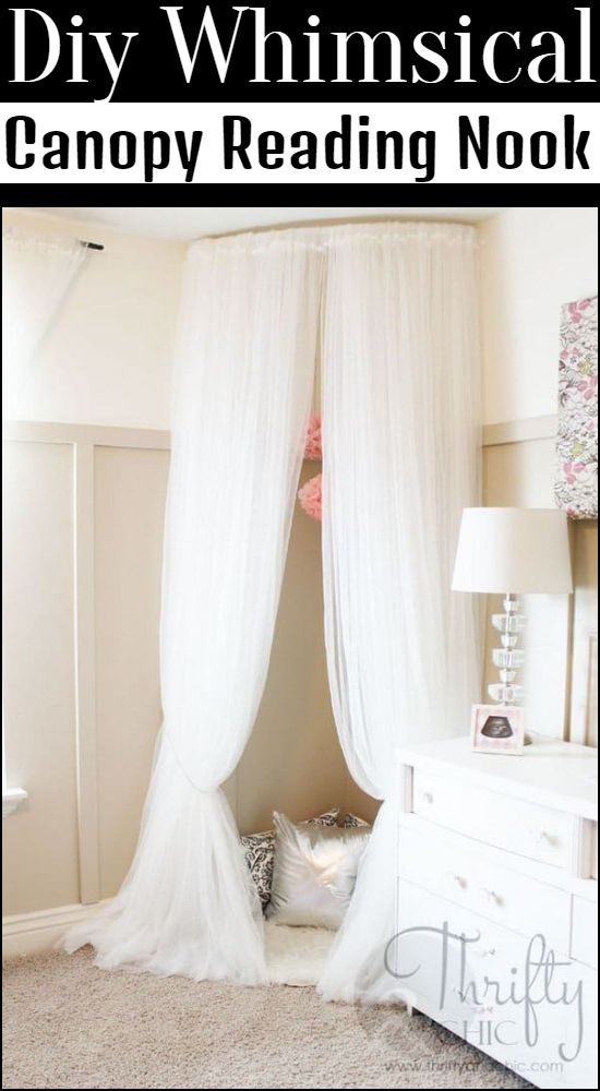 Diy Whimsical Canopy Reading Nook