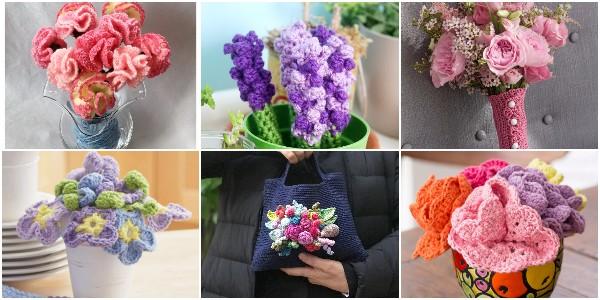Crochet Flower Bouquet Free Patterns