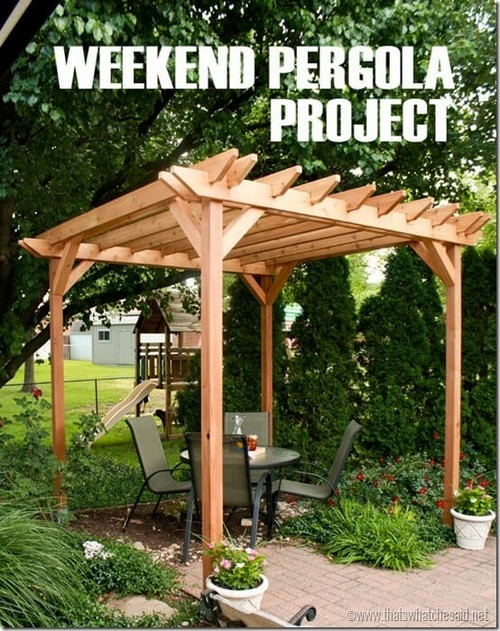 DIY pergola outyard project