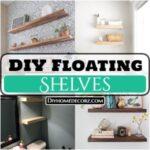 DIY Floating Shelves & Perfect Storage Solution