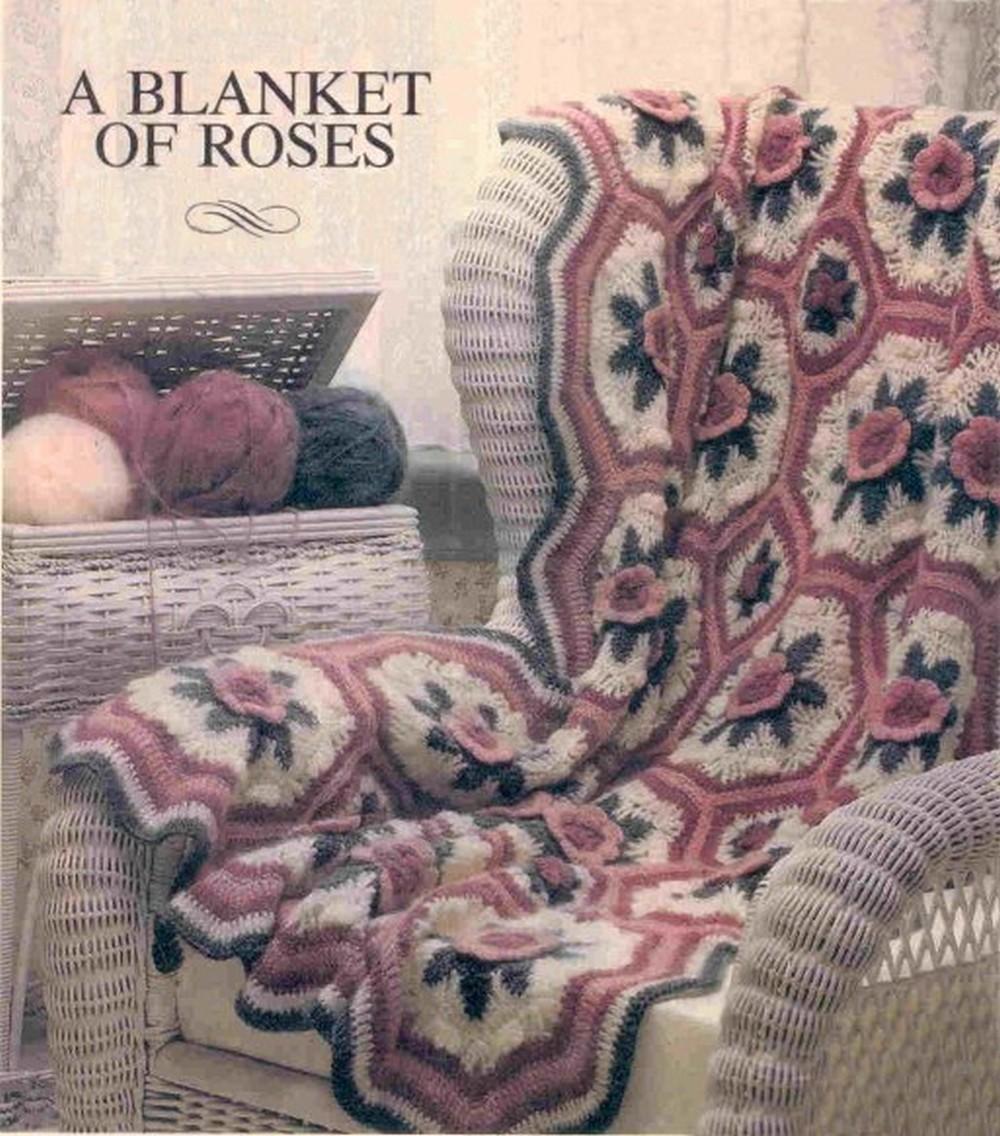 A Crochet Blanket Of Roses Afghan Free Crochet Pattern