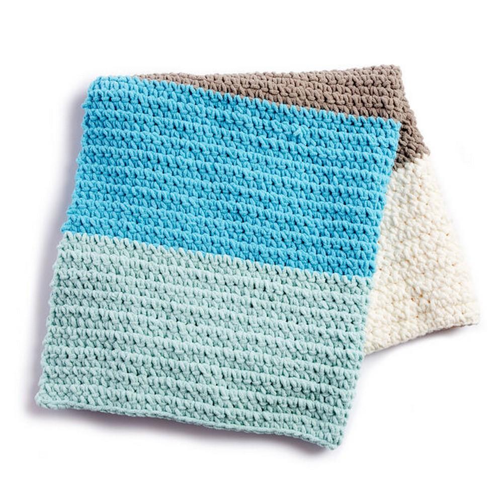 Bernat Colorblock Free Crochet Blanket Pattern