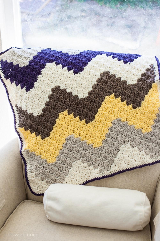 C2C Chevron Baby Crochet Blanket Pattern