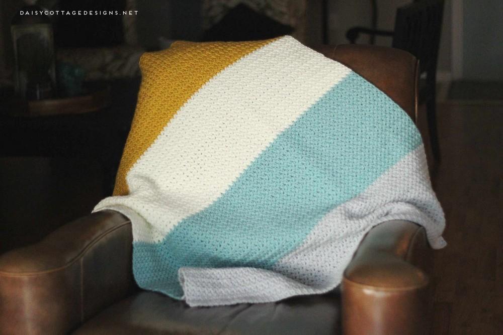 Color Block Crochet Blanket Pattern