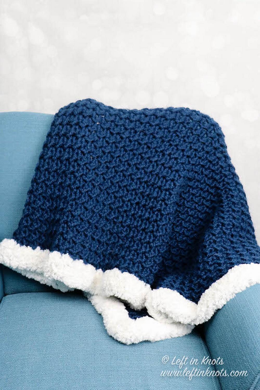 Crochet Crunch Stitch Blanket