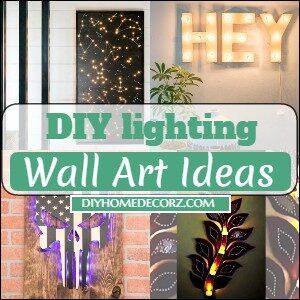 DIY lighting Wall Art Ideas