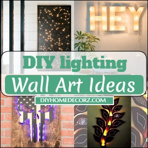 DIY lighting Wall Art Ideas
