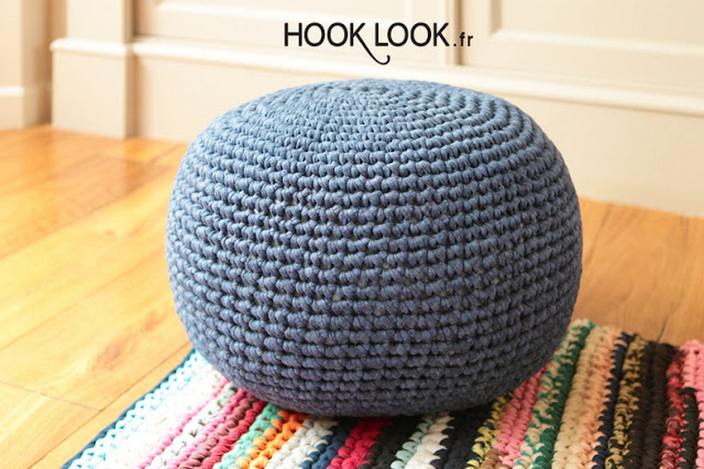 Free Crochet Best Floor Pouf Pattern