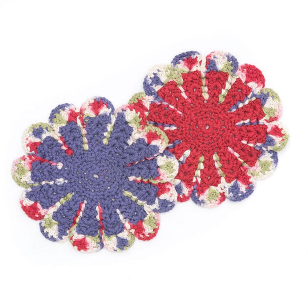 Free Crochet Chrysanthemum Dishcloth Pattern
