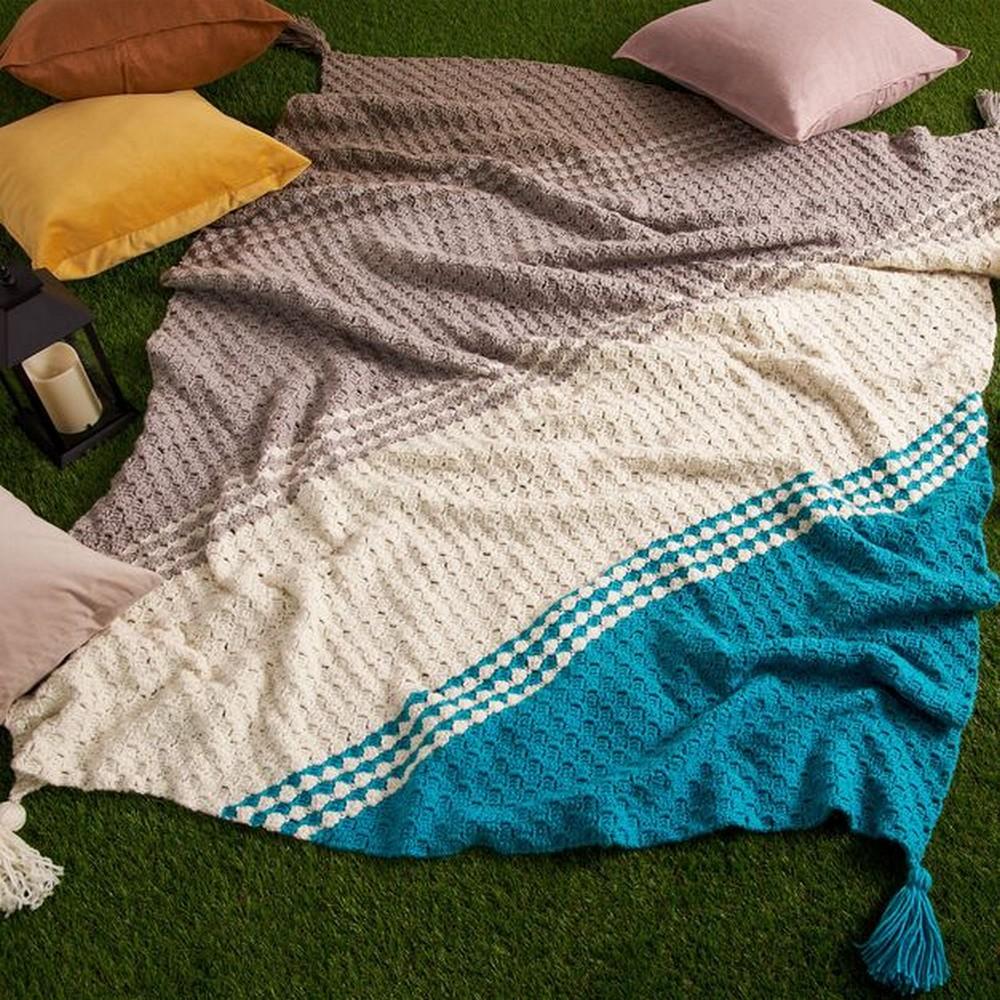 Free Crochet Diagonal Fade Blanket Pattern