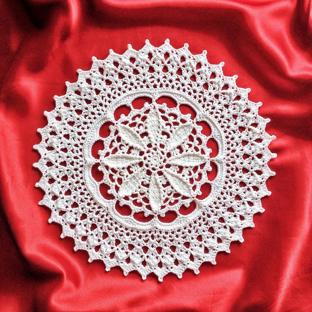 Free Crochet Doily Peace Bloom Pattern